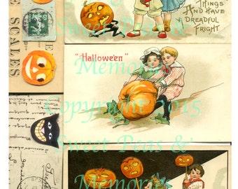 A Jaunty Halloween Digital Collage Sheet