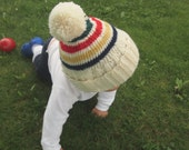 Children's Winter Hat | Baby Boy's Knit Beanie | Primary Colors Red, Yellow, Blue