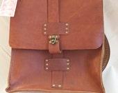 REserved! Rad Juli All-Leather Backpack Laptop Book Bag Satchel