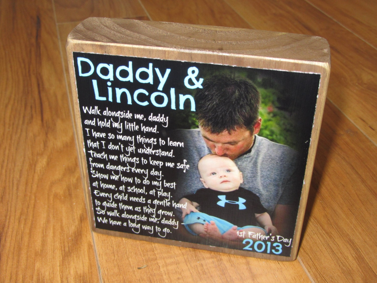 First Father's Day GIFT from baby Walk With Me Daddy