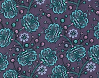 In stock - Tula Pink Birds and bees - Bees knees in lapis - Half yard - Free Spirit PWTP026.LAPIS