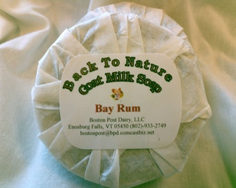 Bay Rum Shaving Soap made with goat's milk