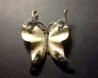 Crown Trifari Alfred Philippe Designed Butterfly Vintage Brooch 1940's