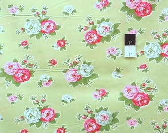 Tanya Whelan TW42 Delilah Bijou Green Cotton Fabric 1 Yd