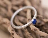 Sterling Silver Ring, Stacking Rings, Stacking Rings Silver, Stacking Rings Sterling Silver, Stack Ring, Silver Rings Women, Lapis Lazuli