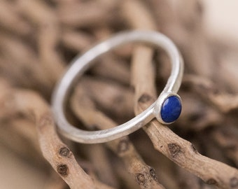Stackable Rings, Sterling Silver Ring, Stacking Rings, Stacking Rings Silver, Stacking Rings Sterling, Silver Rings Women, Lapis Lazuli