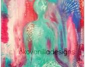 Harmony Buddha Glossy Print of my Orginal Artwork A5 - 14.7cm x 20.9cm