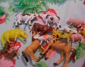 plastic toys and cake toppers