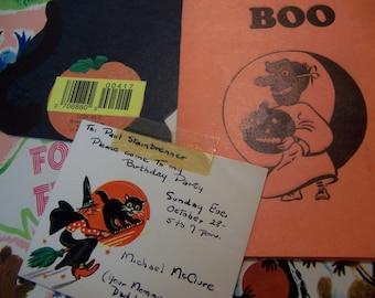 halloween card paper ephemera