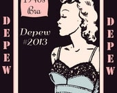 Vintage Sewing Pattern Ladies 1940's French Bra Digital Printable Multisize Depew 2013 -INSTANT DOWNLOAD-