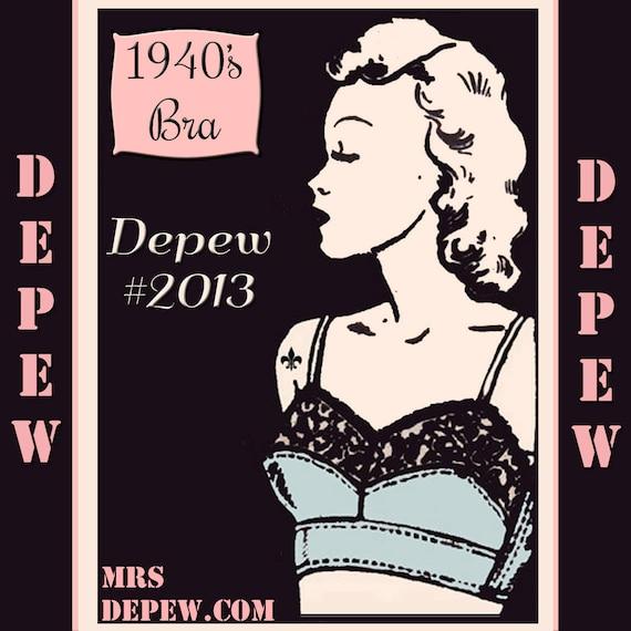 Vintage Sewing Pattern Ladies 1940's French Bra Digital Printable Multisize Depew 2013 -INSTANT DOWNLOAD-