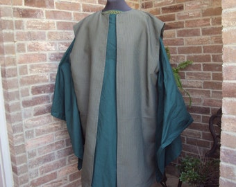Wiseman, Biblical Costume, Green gown with green stripe robe, Christmas pageants, Nativity programs, Renaissance, Halloween
