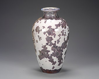 Porcelain Vase - Crystalline Glaze - Brown, Tan - Hand Made Pottery -FREE SHIPPING - #A-1-3949
