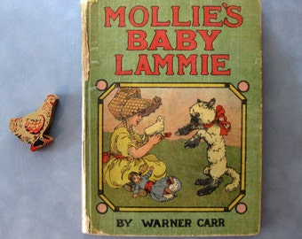 Vintage 1916 Whitman Publishing Co Book, Mollie's Baby Lammie