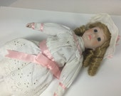 Vintage Cloth & Bisque Curly Haired Blonde Doll