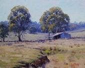 Landscape Oil Painting Sheep Farm Shed Impressionist Barn Artwork Fine Art by  Graham Gercken