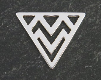 Sterling Silver Triangle Component 14mm (CG7872)