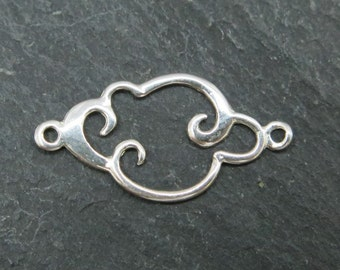 Sterling Silver Cloud Connector 15mm (CG7664)