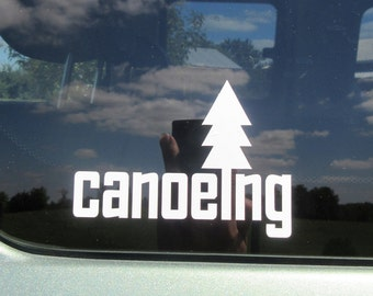 Canoeing vinyl decal, adventure sticker, outdoors, canoe decal, hiking decal, outdoor decal, outdoor adventure, hike, camp, paddle decals