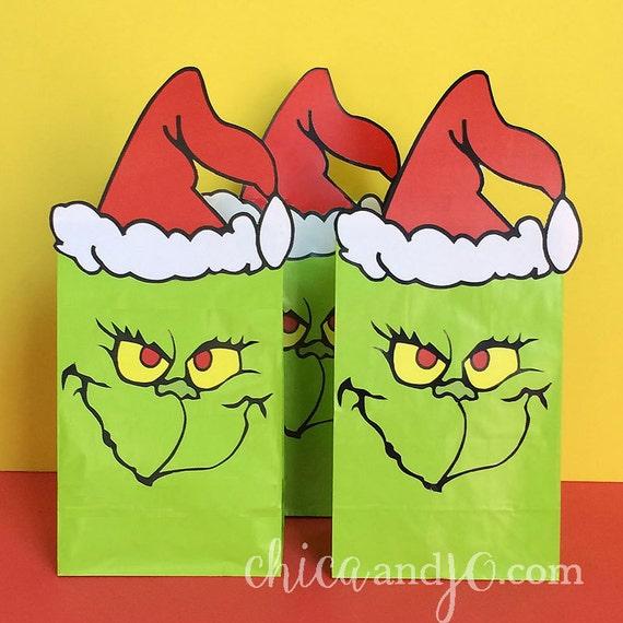 DIY Printable Grinch Party Favor Bags
