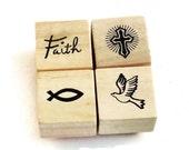 Mini  Rubber Stamp Set  - Faith Set