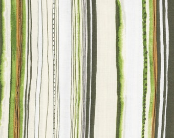 P & B Textiles Sweet Escape 535 E Stripes on Cream by the yard