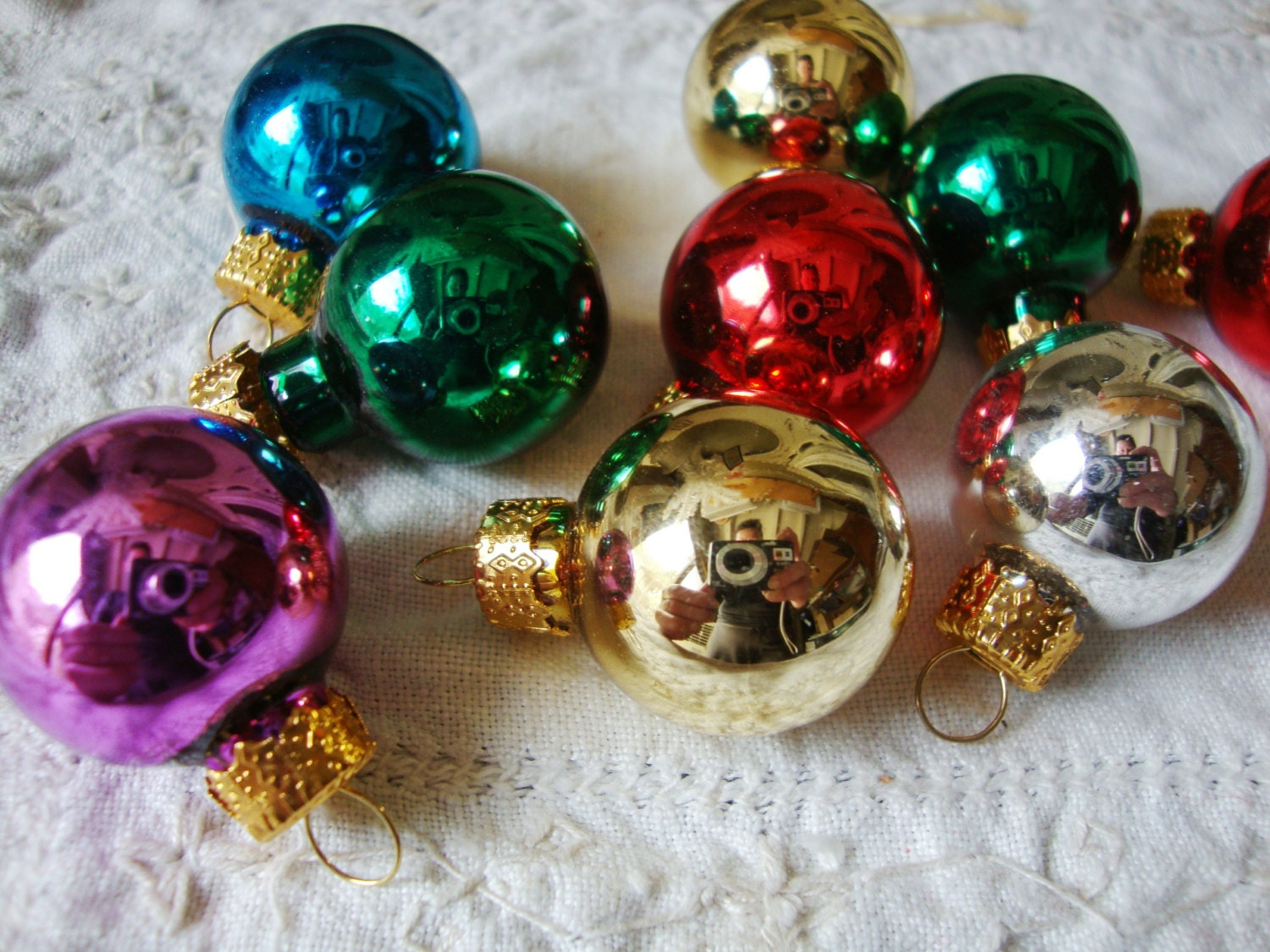 Mini Glass Bulb Christmas Ornaments Crafts By