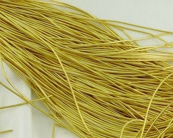Beader's Secret Yellow Gold Plated French Wire, Gimp, Bullion, Thread Protector, Medium, 1 mm OD, Goldwork Embroidery, Coiled Wire Zardozi