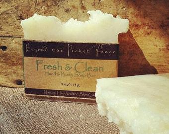 Tea tree, eucalyptus and lavender essential oil soap - handmade soap - exfoliating soap - olive powder - mostly organic soap -fragrant soap
