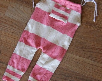 Upcycled Pink White Romper Newborn Size RTS Photography Prop