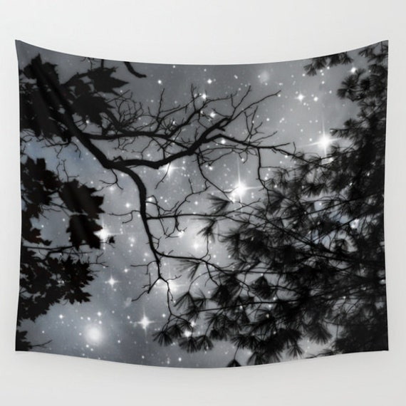 Trees Wall Tapestry Stars Tapestry Night Sky Home Decor