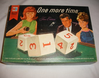 Vintage Game - One More Time Fine Edition by Milton Bradley 1967 Classic Retro Dice Game