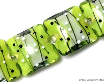 Glass Lampwork Bead Set - Four May Day Party Pillow Beads 10506914