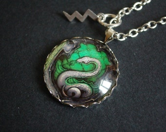 Harry Potter slytherin snake crest necklace