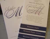Reserved listing for Garber3 Deposit for 250 Custom wedding programs layered style with ribbon tie