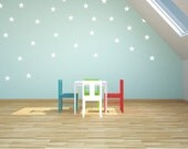 White Stars Vinyl Wall Stickers Nursery Decal Pattern