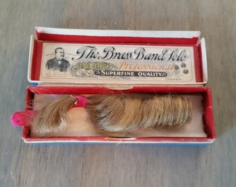 Antique Lock of Hair in Weiss Harmonica Box..In Memoriam..Antique Sentiment..Old Piece of Hair..In Remembrance..Antique Blond Lock of Hair..