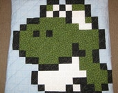 Baby Yoshi Quilted Pillow Cover