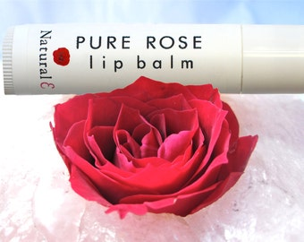 Rose Lip Balm--Natural Lip Tint--Rose Lip Stain--Unique Lip Balm--Tinted Lip Balm