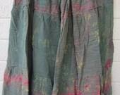 Tie dye  burnout dancing skirt