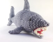 NEW!! Finn the Shark, knitting pattern, PDF instant download