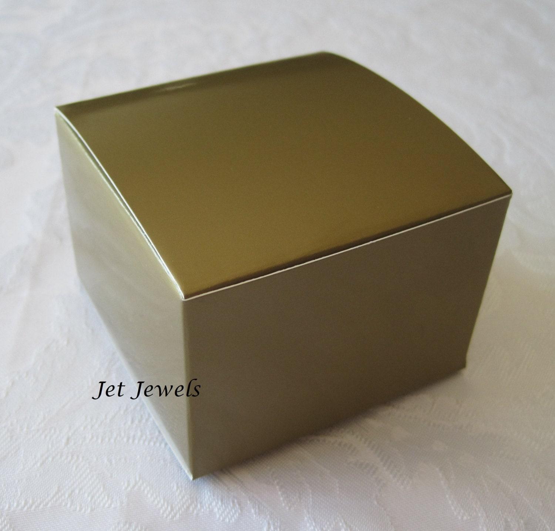 Gold Favor Boxes 4x4x4 : Gift boxes kraft favor wedding