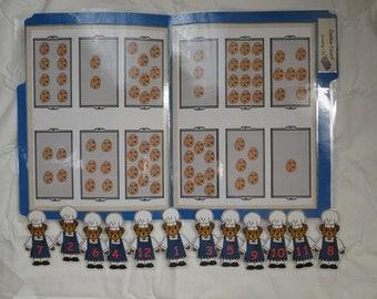 Cookie Count File Folder Game Numbers 1~12 Kindergarten Preschool Math