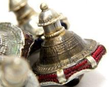 Vintage Kutch Tribal  Metal Shank Banjara Buttons Ethnic Design From Rajasthan India 1 Piece