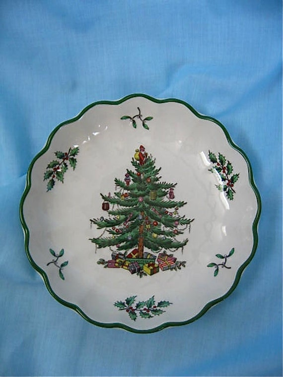 Spode Christmas Tree Bowl by DelicateCreations on Etsy