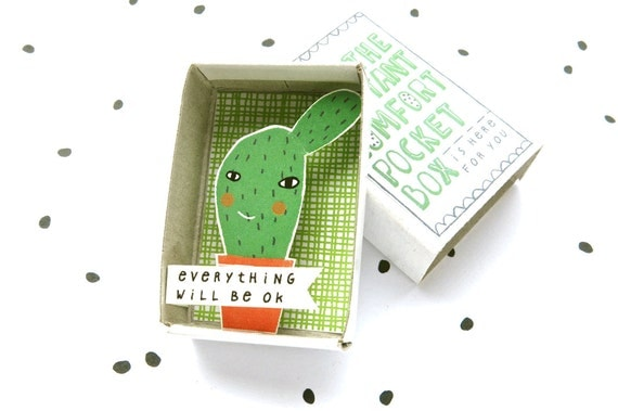 Cactus - The Instant Comfort Pocket Box - everything will be ok! - cheer up and consolation box