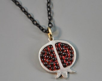 Pomegranate Garnet Mosaic Necklace
