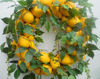 Lemon Tree Wreath........Door Wreath.....Lemon Wreath.....
