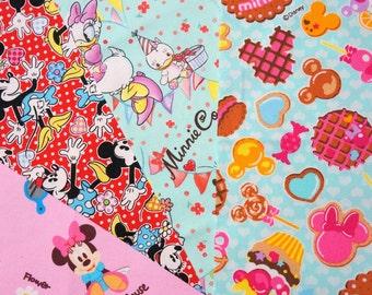 Disney fabric scrap Minnie mouse 2015Fd