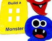 Build a monster quiet book page educational game busy bags quiet book buy one monster, several monster, or complete set #109